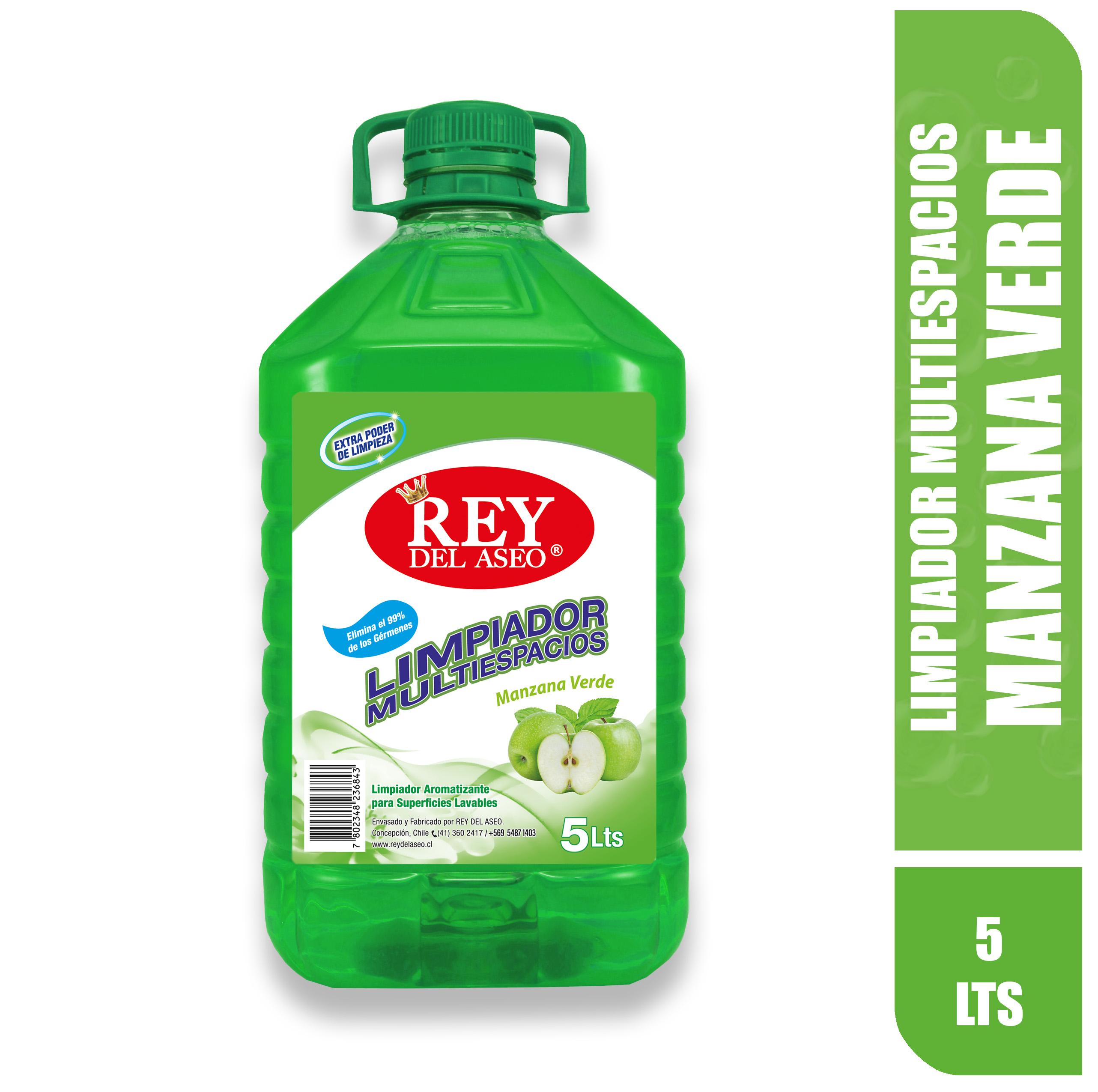 Limpiador multiespacio-5-lts-manzana-verde-rey-del-aseo
